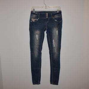 Twentyone Black Distressed Skinny Jeans